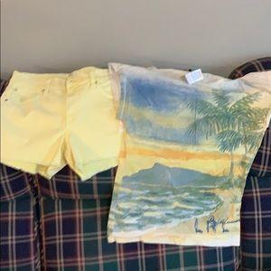 NWT Jr. Ralph Lauren shirt and Else shorts.